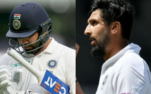 Rohit Sharma and Ishant Sharma cricket live